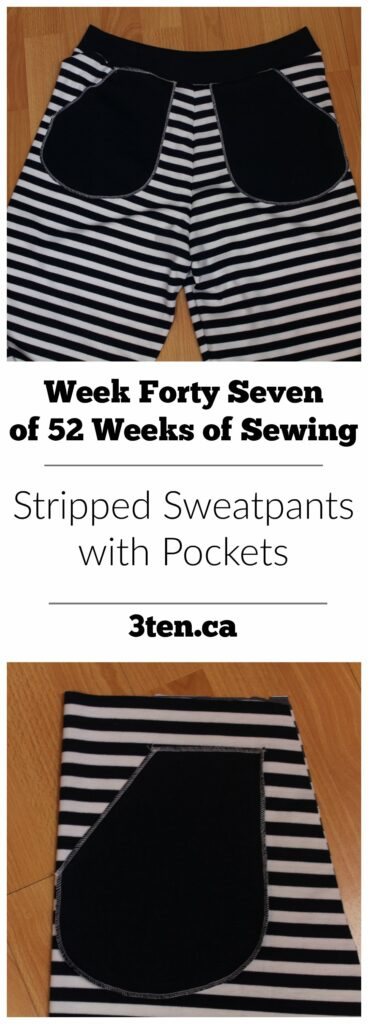 Stripped Sweatpants with Pockets: 3ten.ca