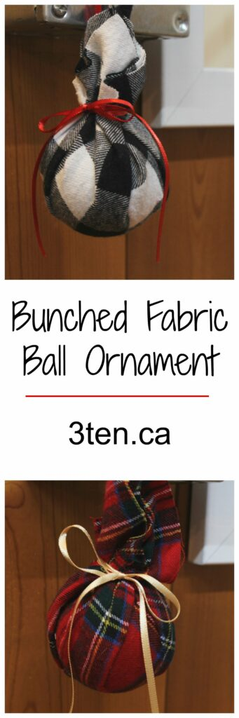 Bunched Fabric Ball Ornament: 3ten.ca