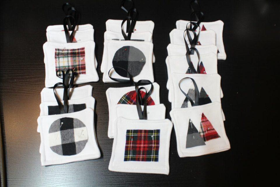 Fabric Christmas Ornaments: 3ten.ca