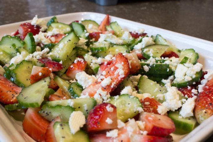 Cucumber Strawberry Salad: 3ten.ca