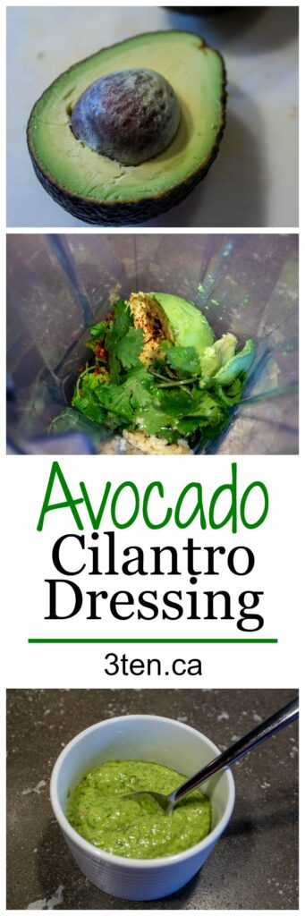 Avocado Cilantro Dressing: 3ten.ca