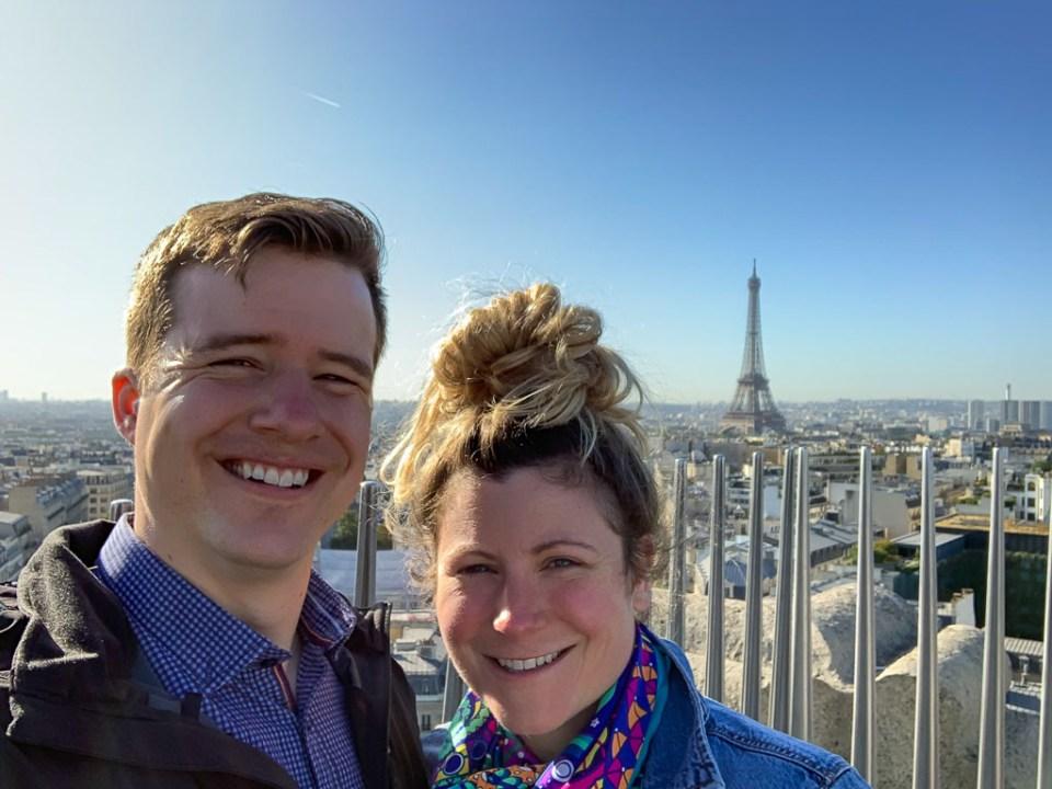 Ali and Bryce in Paris: 3ten.ca