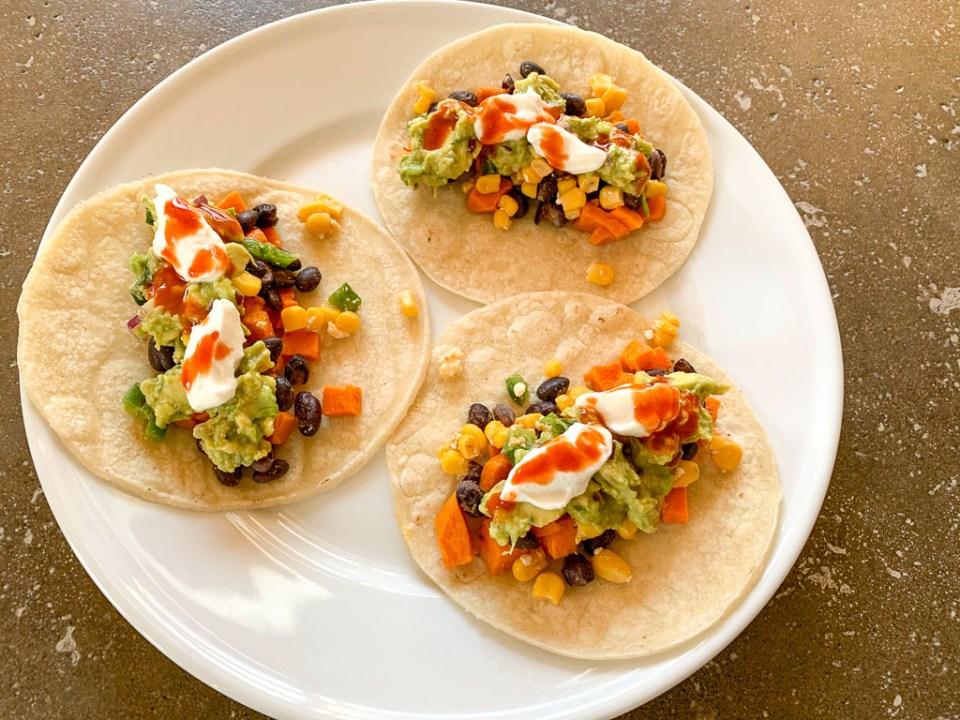 Sweet Potato and Black Bean Tacos: 3ten.ca