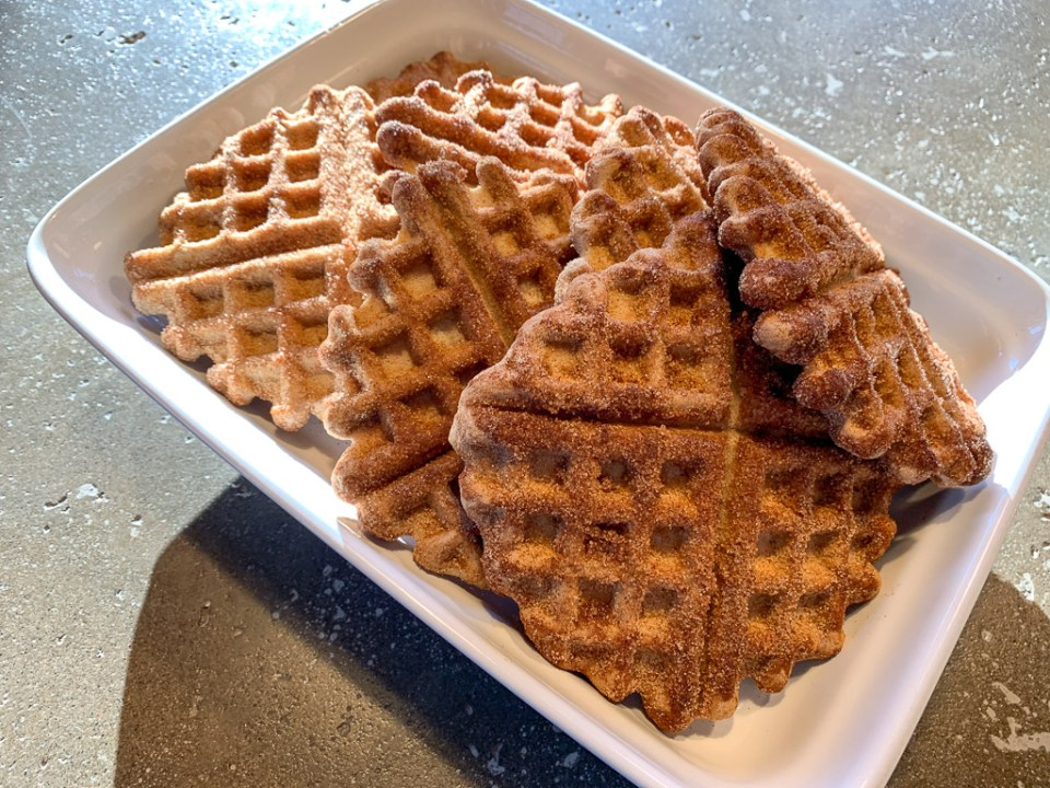 GF Fluffy Churro Waffles: 3ten.ca