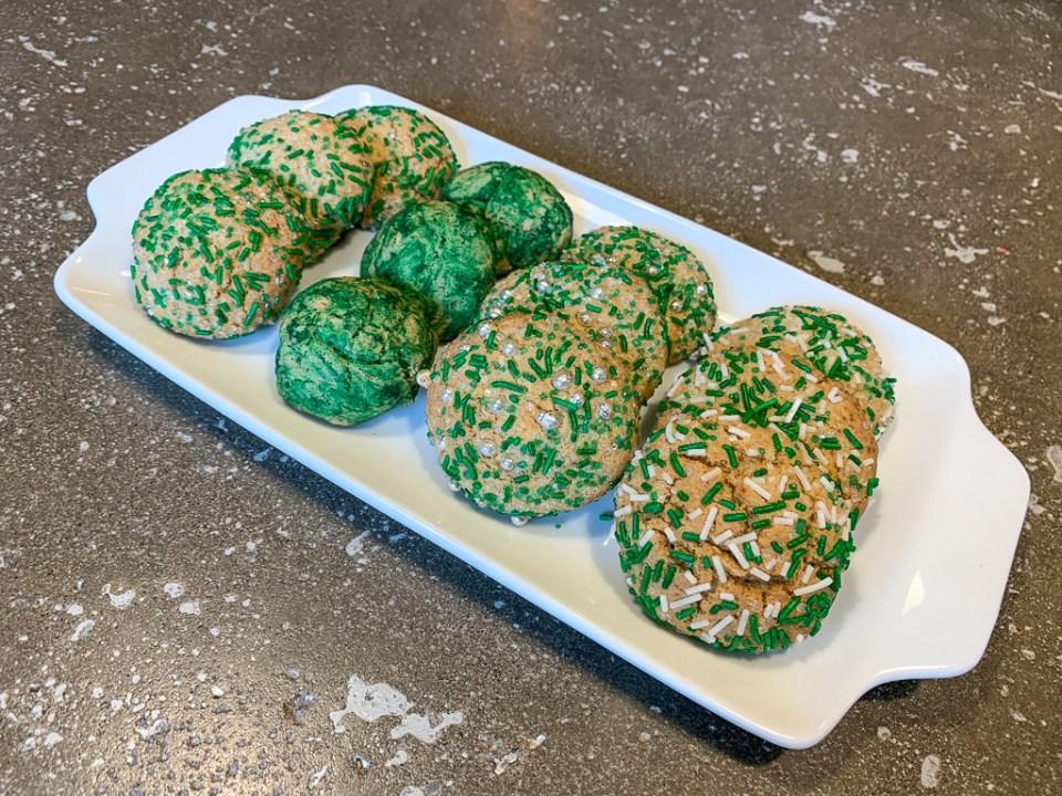 Green Sprinkle Cookies: 3ten.ca