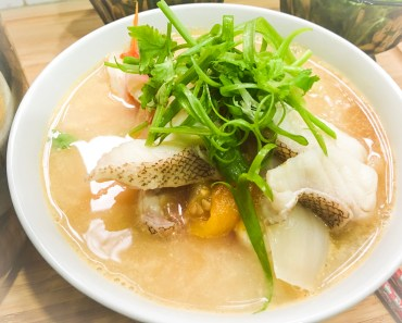 Grouper Fish Soup with Rice Noodle
