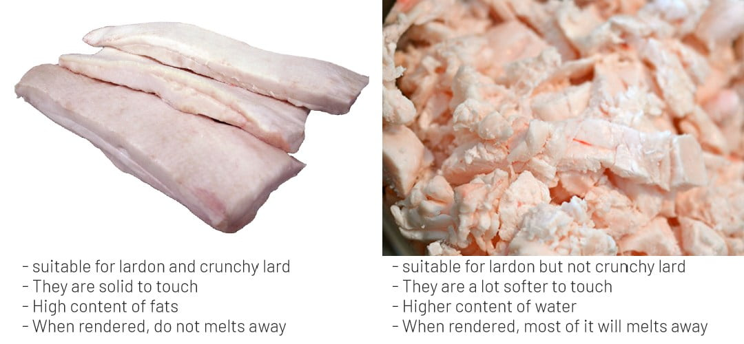 pork lard render fats