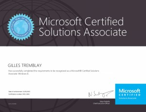 Microsoft Certified Solutions Associate - Windows 8