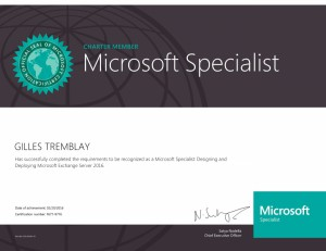 Designing and Deploying Microsoft Exchange Server 2016 (Charter)
