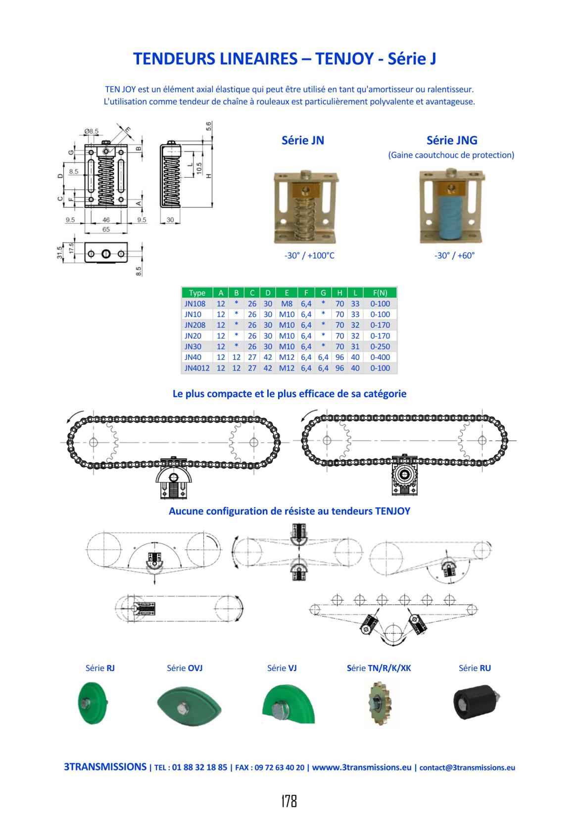 Catalogue 3Transmissions - Tendeur linéaire à ressort TENJOY J