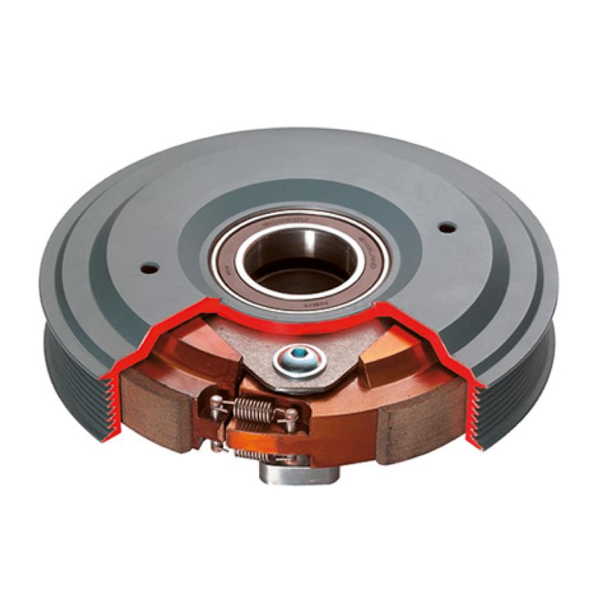 embrayage centrifuges asymétrique à pivots