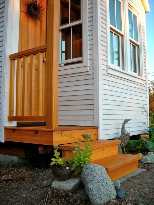 Genius Outdoor Tiny House Staircase With Built In Storage | Staircase For Small House | Internal | Popular | Tiny House | Concrete | Diy