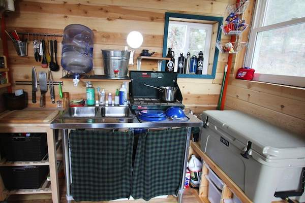 tiny house with full kitchen