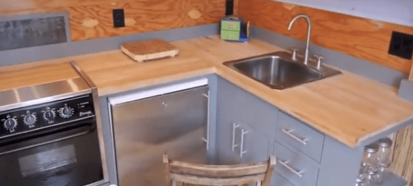 tiny house outdoor kitchen