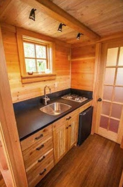 tiny house open kitchen