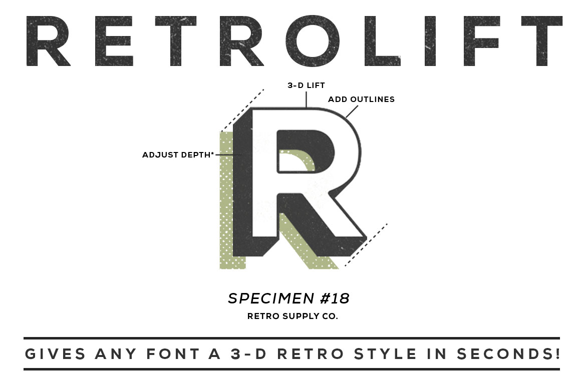 Create Easy 3d Text Effects With Retrolift Photoshop
