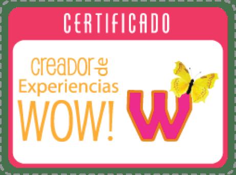 Sello certificación Experiencia WOW
