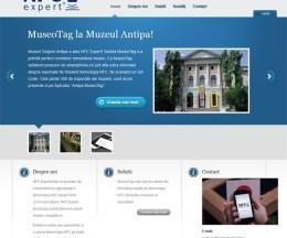 Site de prezentare firmă din domeniul tehnologiei: NFC Expert