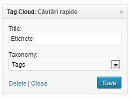 Cum se poate modifica numărul de taguri din Tag Cloud