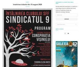 Site pe WordPress pentru Clubul de literatură Sindicatul 9