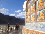 Buddhism is widely practiced in Ladakh