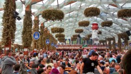 Inside the Hofbrau Tent