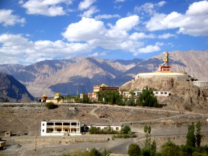 The Diskit Buddha silently watching over the Nubra Valley