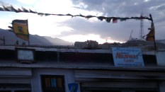 Prayer flags fluttering in the wind - a Ladakh trademark