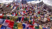 Prayer flags are everywhere in Ladakh - I mean everywhere, including the Khardung La pass