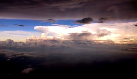 Scary but very dramatic walls of clouds above KL (flying MAS doesn't make it any easier these days)