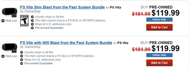 Gamestop Selling Pre Owned Ps Vitas With 8gb Memory Cards For