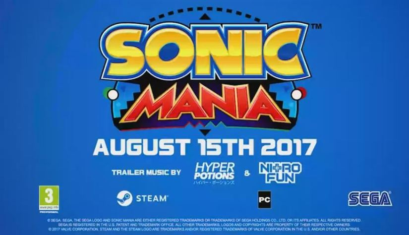 Sonic Mania Release Date Leaked (PC/Steam Version) – August 15th