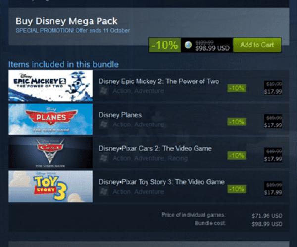 Disney bringing its games to Steam!