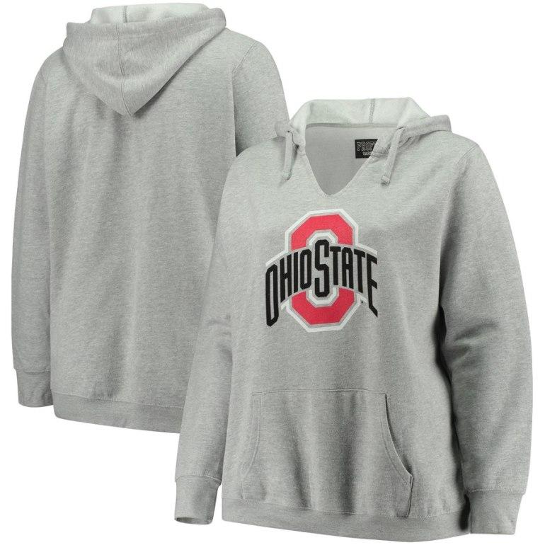 womens plus size college hoodie sweatshirts - ohio st buckeyes