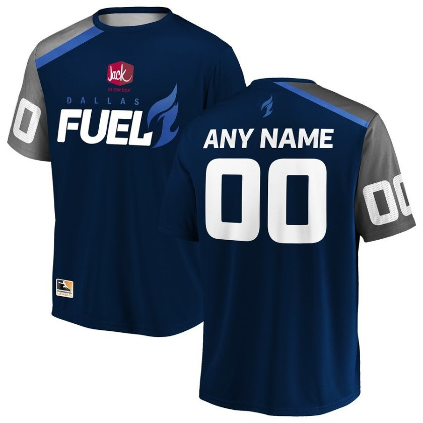 dallas fuel overwatch league player jersey - custom - add any player