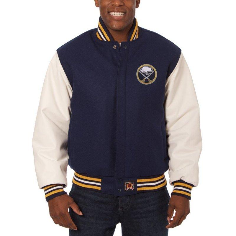 Buffalo Sabres Leather & Wool Jacket