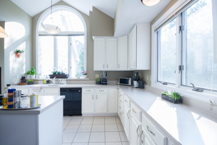 clean home and kitchen
