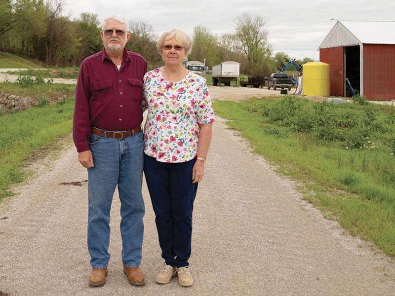 couple standing on the katy trail