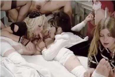 Retro pornó - csoportos szex