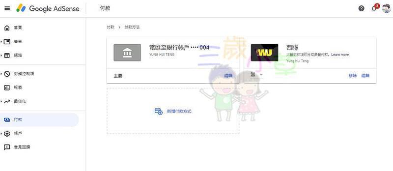 Google AdSense,google廣告,西聯改電匯