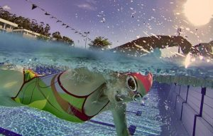 Triathlon coaching Stellenbosch swimming pool