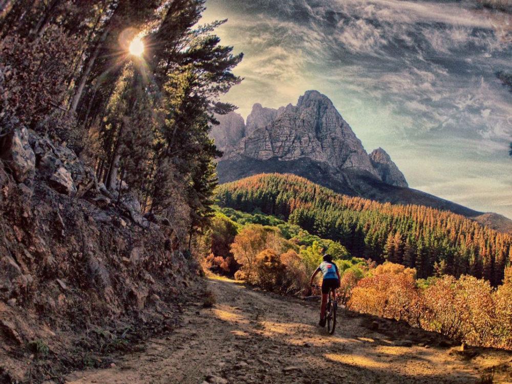 Mountain biking jonkershoek Stellenbosch, South Africa