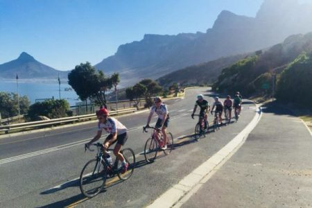 Cape Town cycling slide