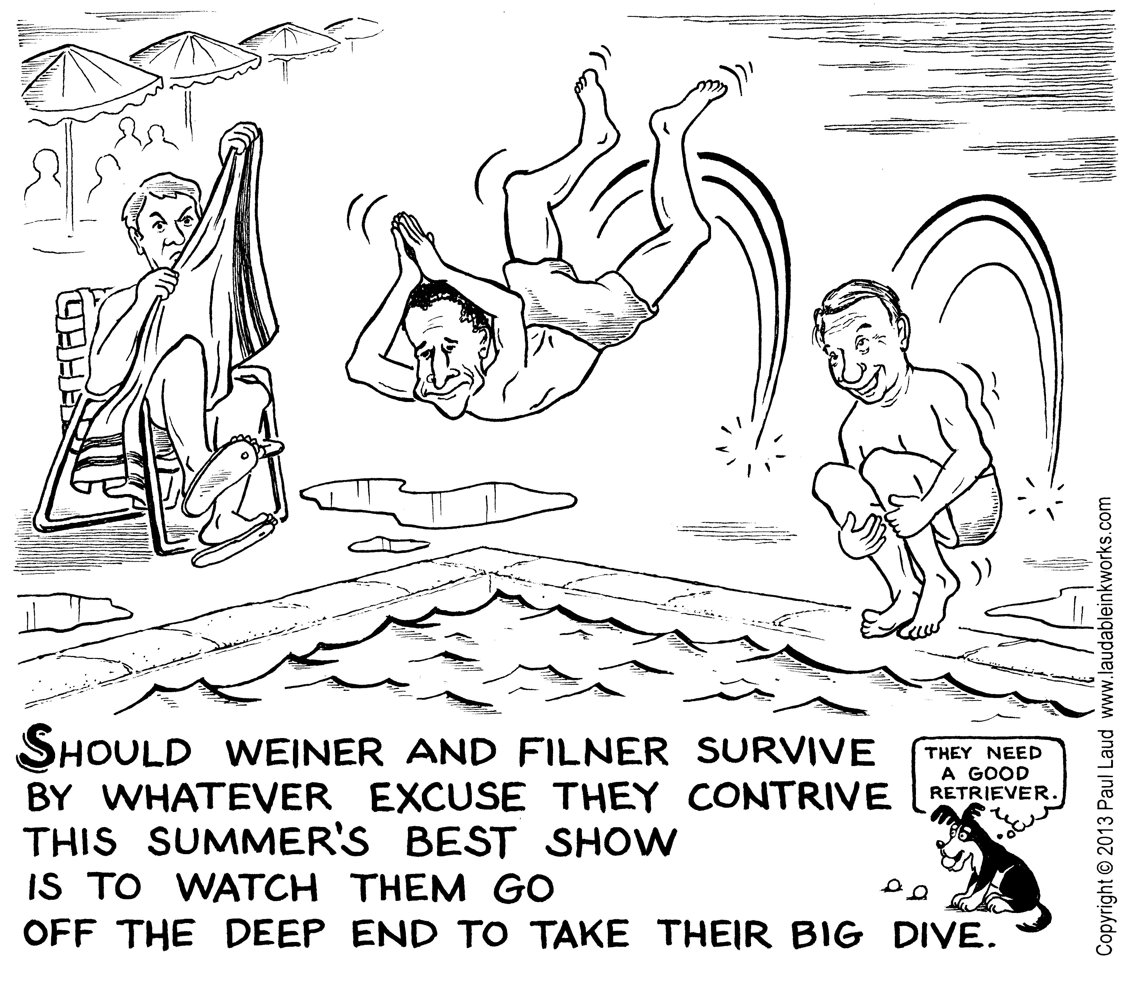 Off The Deep End With Weiner And Filner Nudged By
