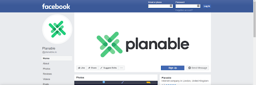 planable facebook cover