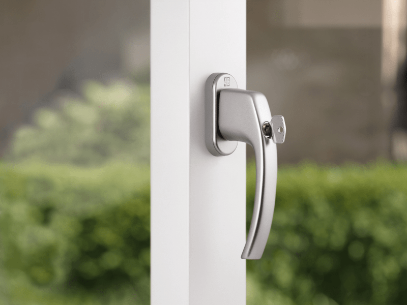 Abschliessbarer Fenstergriff für erhöhte Sicherheit