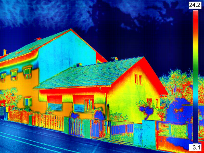 Wärmebild Aufnahme von einem Haus