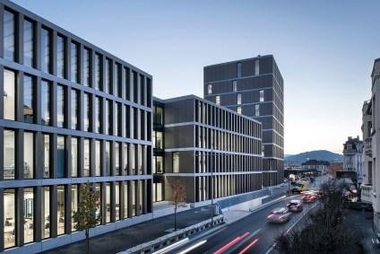 Bildungszentrum Campus HE, Delémont Fassade von 4B