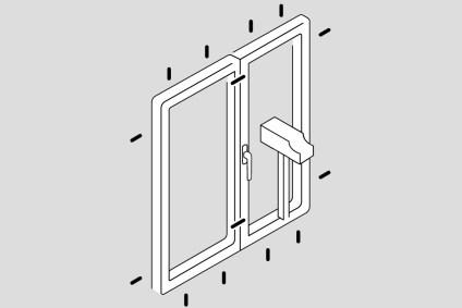 Fenster Skizze mit den Widerstandsklasse RC2