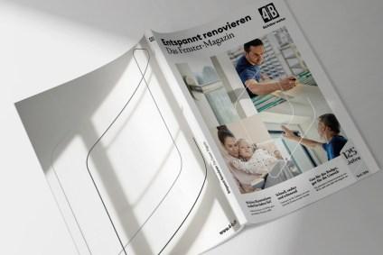 Packshot vom neuen 4B Fenster Magazin für die Renovation